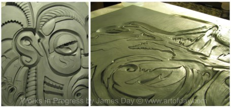 James Day original art work in progress